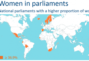EP comparison women in parliaments
