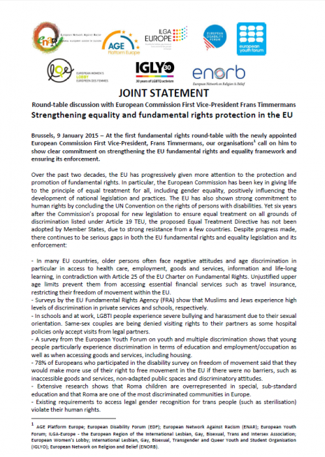 Strengthening equality and fundamental rights protection in the EU